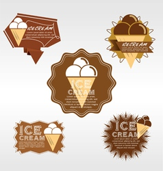 Set of Ice Cream Badge EPS10 vector image