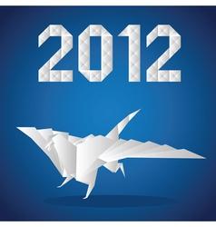 2012 paper dragon vector image