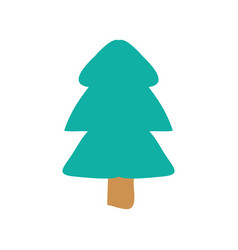 christmas tree icon vector image vector image
