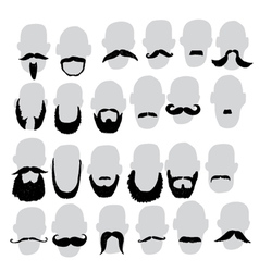 moustache and beard vector image vector image