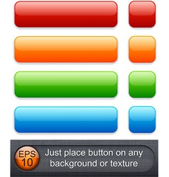 Rectangular glossy buttons vector image