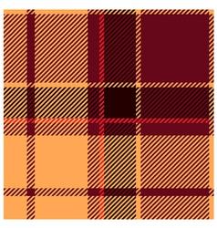 Reddish Tartan Cloth Pattern vector image vector image