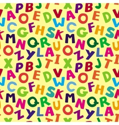 seamless pattern with cartoon letters vector image vector image