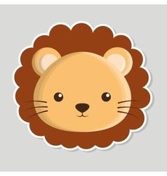lion animal cute little design vector image vector image