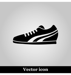 Running Shoe Icon on grey Background vector image