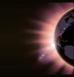 sunrise concept background vector image