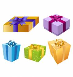 variety of gift box vector image