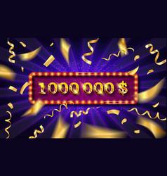 1 million followers thank you gold vector