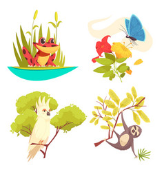 Animals jungle design concept vector