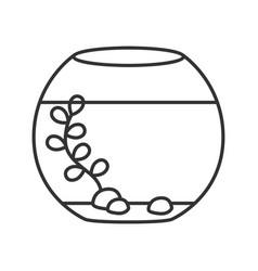 aquarium linear icon vector image