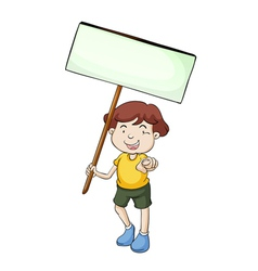 banner kid vector image