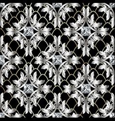 baroque 3d seamless pattern vintage antique vector image