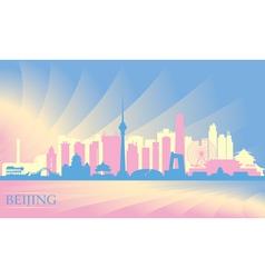 Beijing city skyline vector image