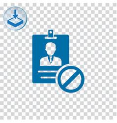 Block id card icon vector