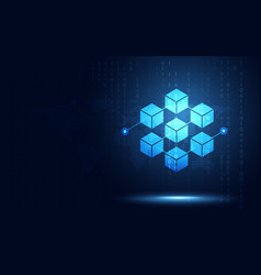 Blockchain technology fintech cryptocurrency vector