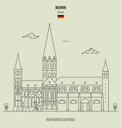 bonn minster cathedral vector image