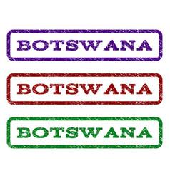 botswana watermark stamp vector image