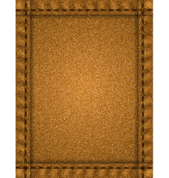 Brown fabric texture vector image