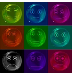 bubbles smileys vector image