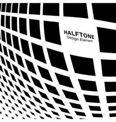 Bulgy Black Abstract Halftone Square Dot Backgroun vector