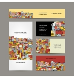 Business cards design cityscape background vector image