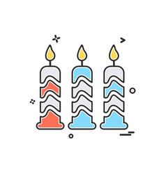 candel icon design vector image