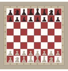 chess board vector image