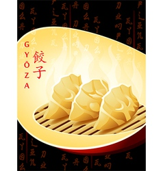 chinese dumplings vector image