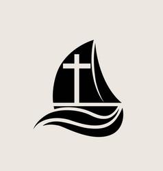 Christian ark logo silhouette vector