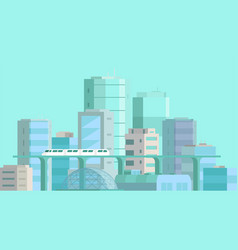 city landscape modern architecture buildings vector image