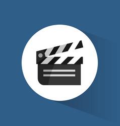 clapper film movie cinema icon vector image