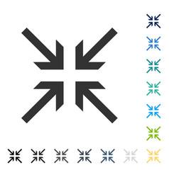 Collide arrows icon vector