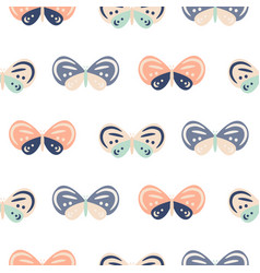 cute pastel color butterfly cartoon baby seamless vector image