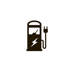 Electric charging station vector