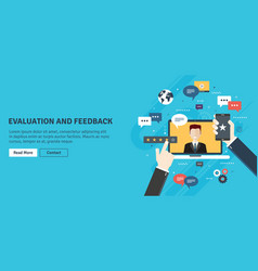 evaluation and feedback in business vector image