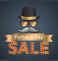 Fathers day sales logo icon design vector
