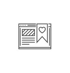 Favorites line icon vector