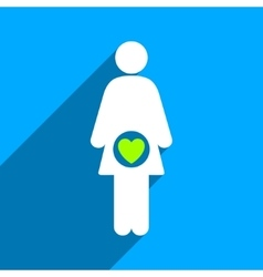 Fertility Flat Square Icon with Long Shadow vector