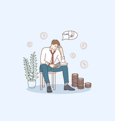 Financial problems and bankruptcy concept vector
