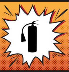 fire extinguisher sign comics style icon vector image
