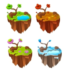 Four Seasons Lands Game Design vector