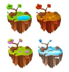 Four seasons lands game design vector