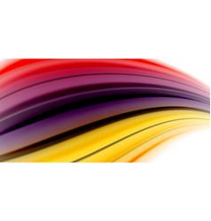 gel jelly fluid flowing liquid rainbow style vector image