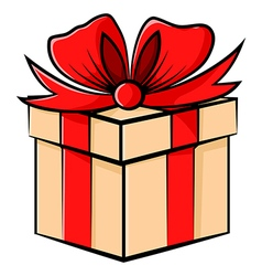 gift contour vector image