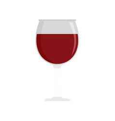 glass of wine icon flat style vector image