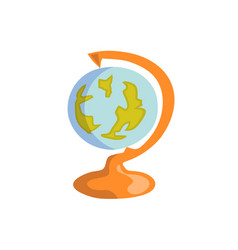 globe flat design design vector image