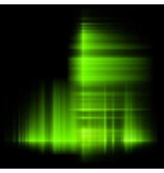 Green northern lights aurora borealis EPS 10 vector image