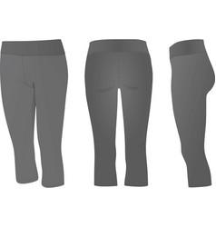 Grey three quarters pants vector