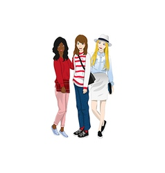Group Girl Friends vector