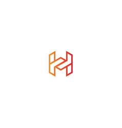 h initial technology logo vector image